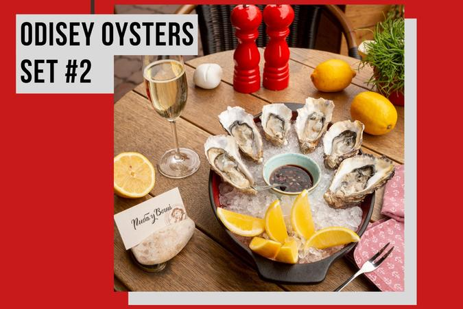 ODISEY OYSTERS SET + WINE